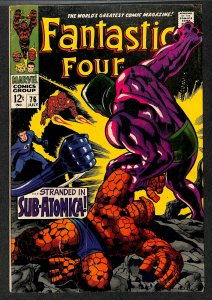 Fantastic Four #76 VG/FN 5.0 Silver Surfer Galactus! Marvel Comics