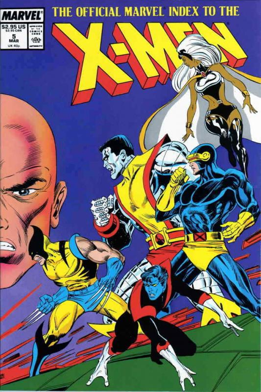 Official Marvel Index to the X-Men #5 VF/NM; Marvel | save on shipping - details