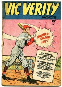 Vic Verity #5 1946- CC Beck- Baseball cover- Tim Travis & Tiny People G-