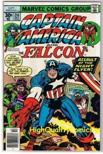 CAPTAIN AMERICA #214, FN, Jack Kirby, Falcon, 1968, more CA in store