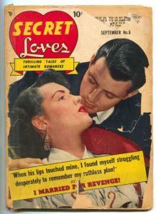 Secret Loves #6 1950- Golden Age Romance reading copy