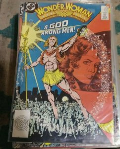 WONDER WOMAN # 23 1988 DC george PEREZ    PARADISE ISLAND AMAZONS hermes god
