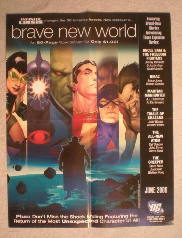 BRAVE NEW WORLD Promo Poster, 17x22, 2006, Unused, more Promos in store