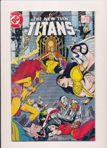 DC The NEW TEEN TITANS #8 1985  NEAR MINT (SRU665)