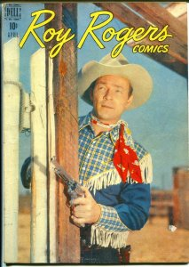 Roy Rogers #4 1948-Dell-photo covers-early issue-FN-