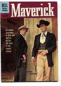 Maverick #10 1960- Dell TV Western- James Garner- Jack Kelly FN/VF