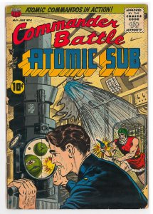Commander Battle and the Atomic Sub (1954) #6 VG/FN