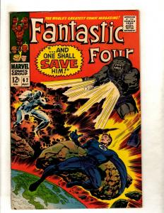 Fantastic Four # 62 VF/NM Marvel Comic Book Dr. Doom Human Torch Thing FM3