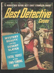 Best Detective Cases #9 1960-Criminal manhandles spicy babe cover-D.L. Champi...