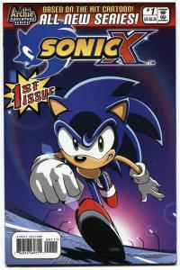 SONIC THE HEDGEHOG SONIC X #1 2005-ARCHIE COMICS-SEGA!