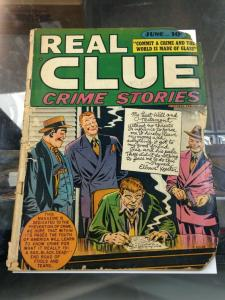 Real Clue Crime Stories Vol.3  #4  FR/GD (Jun 1948) Hillman