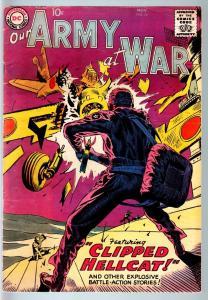 OUR ARMY AT WAR #76 1958-DC WAR COMIC-JOE KUBERT-RUSS HEATH-VF- VF-
