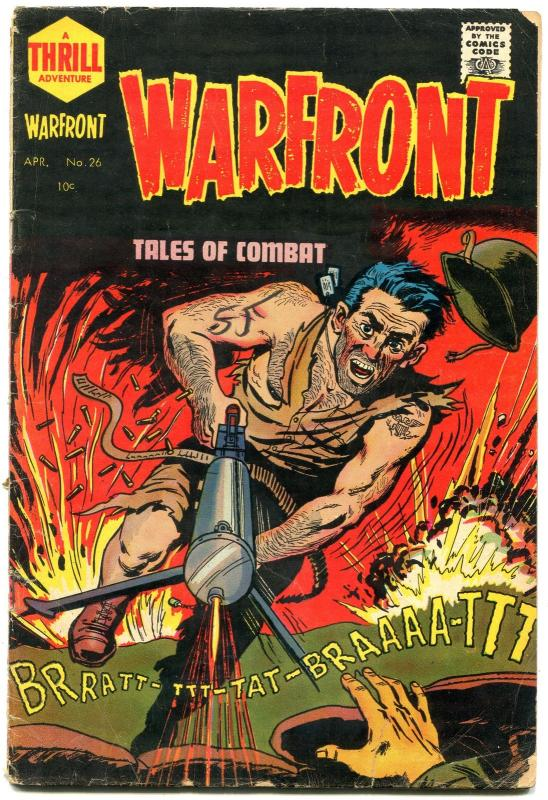 WARFRONT #26 BOB POWELL VIOLENT ART STORIES 1955 KOREA G