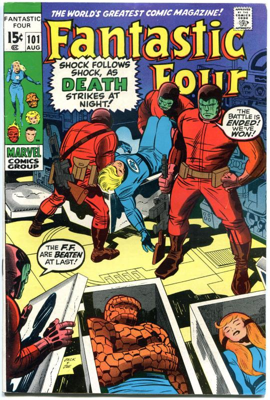 FANTASTIC FOUR #101, FN+, Bedlam, Jack Kirby, 1961, more in store, QXT