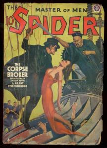 THE SPIDER SEPT 1939 ASIAN MENACE SPICY HEADLIGHTS CVR VG-
