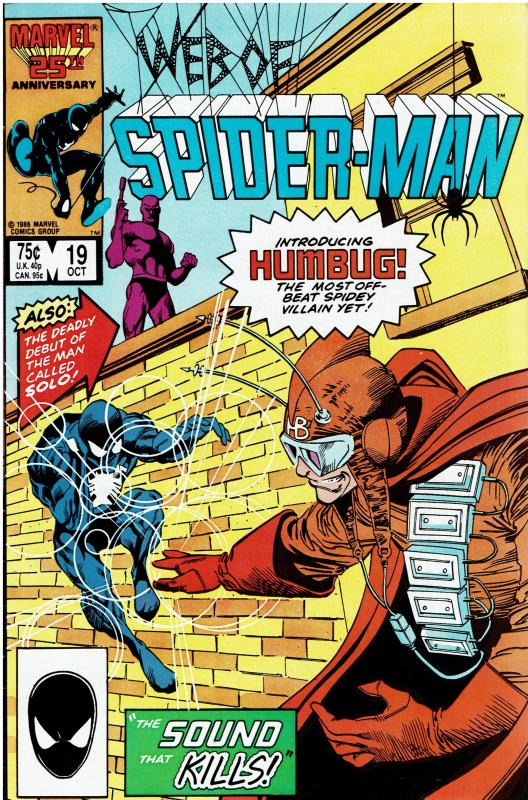 Web of Spider-Man #19, VF/NM, *KEY* 1st Humbug & Solo