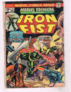 Marvel Premiere # 17 VG Ft. Iron Fist Comic Book Netflix Daredevil Power Man J77