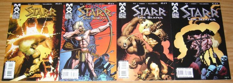 Starr the Slayer #1-4 FN/VF complete series - daniel way - richard corben 2 3