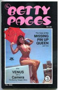 The BETTY PAGES #3, VF, Bettie, 1988, Frank Frazetta, 1st, more BP in store