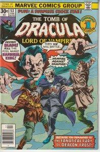 Tomb of Dracula(vol. 1) # 53   At Last ! Blade vs Deacon Frost !