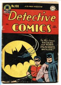 Detective #108 1946-DC-Batman-1st Bat-Signal cover-Golden-Age