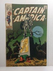 Captain America 113 Fn Fine 6.0 Subscription Fold Marvel Comics