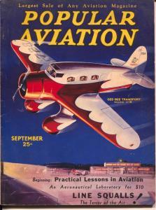 Popular Aviation 9/1933-Gee-Bee C-8 Transport plane-plane-H.R. Bollin-VG
