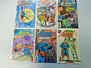 Superman Action Comics Lot From: #551-578 12 Different 8.0 VF (1984-1986)