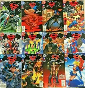 SUPERMAN & BATMAN#1-13 VF/NM LOT 2003 (12 BOOKS) DC COMICS