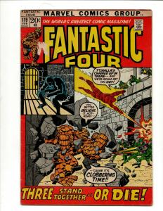 Fantastic Four # 119 VG/FN Marvel Comic Book Black Panther Thing Torch J371
