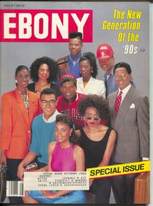 Ebony 8/1990-New Generation of The 90's Special Issue-Civil Rights-FN
