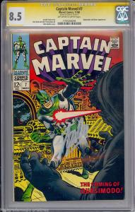 Captain Marvel #7 (Marvel, 1968) - Stan Lee Signed