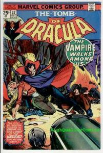 TOMB of DRACULA #37, Vampire, Undead,Wolfman, 1972, FN+