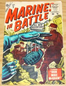 Marines in Battle #5 VG april 1955 - iron mike mcgraw - dick ayers - guam story