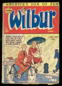 WILBUR COMICS #23 1949-ARCHIE-KATY KEENE-BICYCLE COVER G/VG