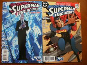 2 Near-Mint DC Comic: SUPERMAN UNCHAINED #4 #5 (2013) Snyder Lee Williams Nguyen