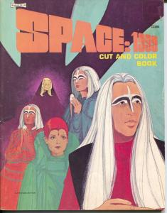 Space:1999 Cut and Color Boo #C2484 1975-Saalfield-uncut & uncolored-V/FN