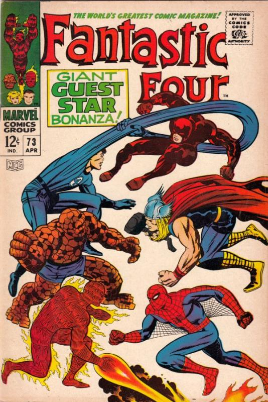 Fantastic Four #73 (Apr-68) VF+ High-Grade Fantastic Four, Mr. Fantastic (Ree...