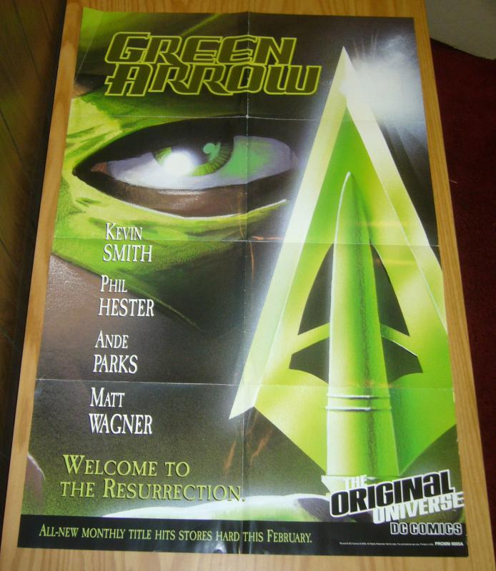 Green Arrow Poster - 34 x 21.5 - kevin smith - phil hester - matt wagner 2000