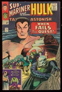 TALES TO ASTONISH #74 '65-HULK SUB-MARINER-MARVEL KIRBY FN