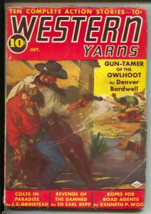 Western Yarns #4 10/1938-Columbia--Lobo Law by  Gratton Boone-A.Leslie Ross...