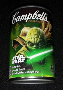 Limited Edition Star Wars Force Awakens Yoda Campbell's Soup - New!