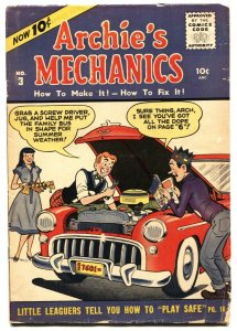 Archie's Mechanics #3 1955 MLJ-Betty-Veronica-very rare issue VG-