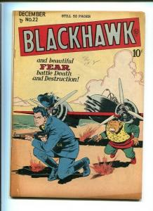 BLACKHAWK COMICS #22-QUALITY-1948-REED CRANDALL ART-TOMMY GUN COVER-VF minus VF