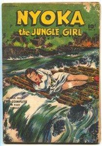 Nyoka The Jungle Girl #4 1946- bondage cover G/VG