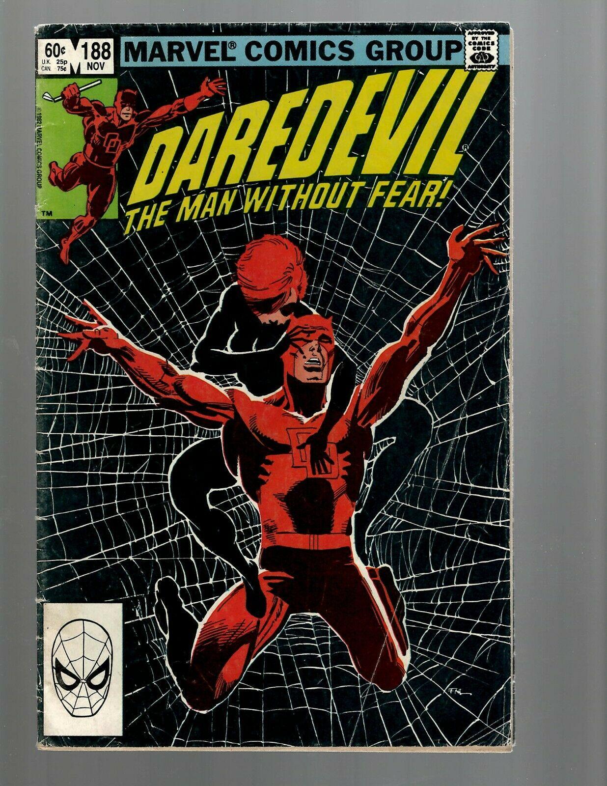 Daredevil 188 Fn Marvel Comic Book Frank Miller Bullseye Hell S Kitchen Tw1 Comic Books Modern Age Marvel X Men Superhero Hipcomic