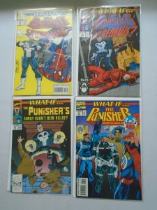 What If? lot 4 different Punisher issues 8.0 VF