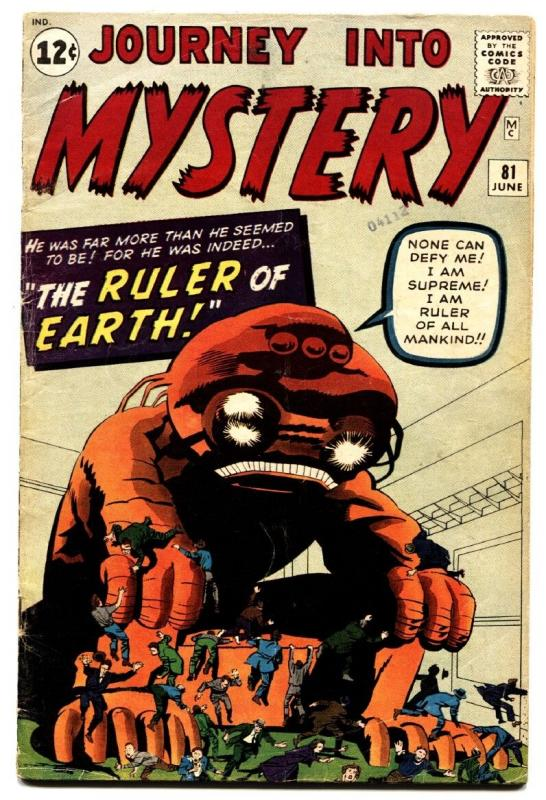 JOURNEY INTO MYSTERY #81 comic book-1962-MARVEL-HORROR-KIRBY-DITKO