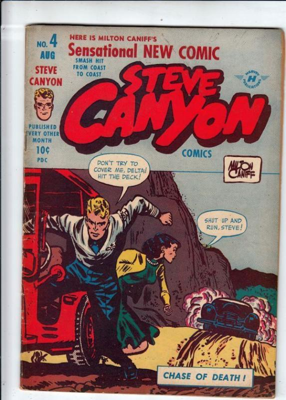 Steve Canyon 4 strict FN 6.0 Big Red!  more Golden Age comics@Kermitspad!