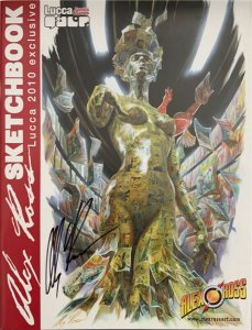 ALEX ROSS TOY DESIGN SKETCHBOOK & LUCCA EXCLUSIVE SKETCHBOOK 2010 SIGNED NM.